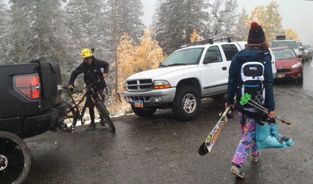 Mountain Biking Meets Skiing