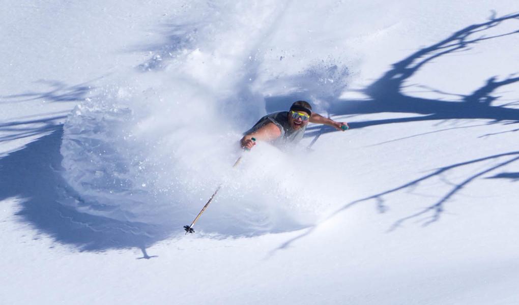 Spring Pow Skiing