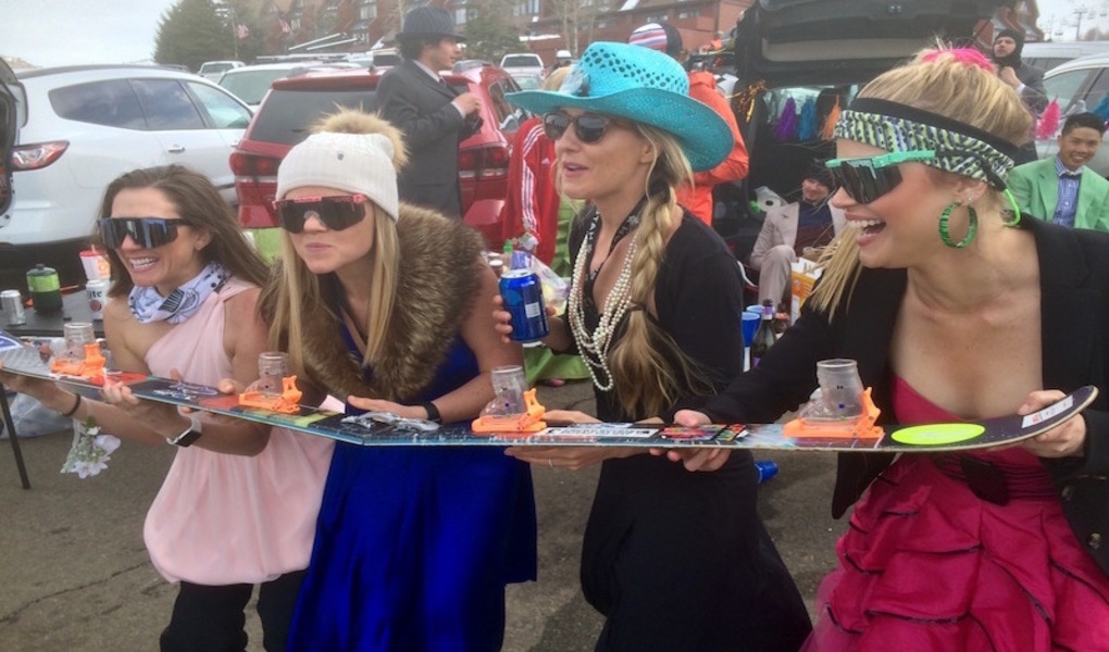 Costumes + Shotskis = Spring Skiing