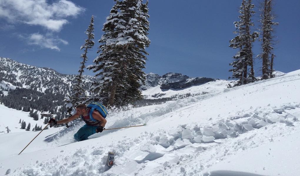 Spring skiing at Alta