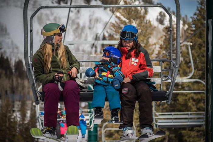 Brook and Huck on Ski Lift