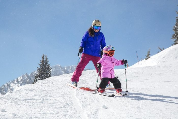 Learning to ski at Snowbird