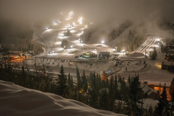 Night Skiing in Utah
