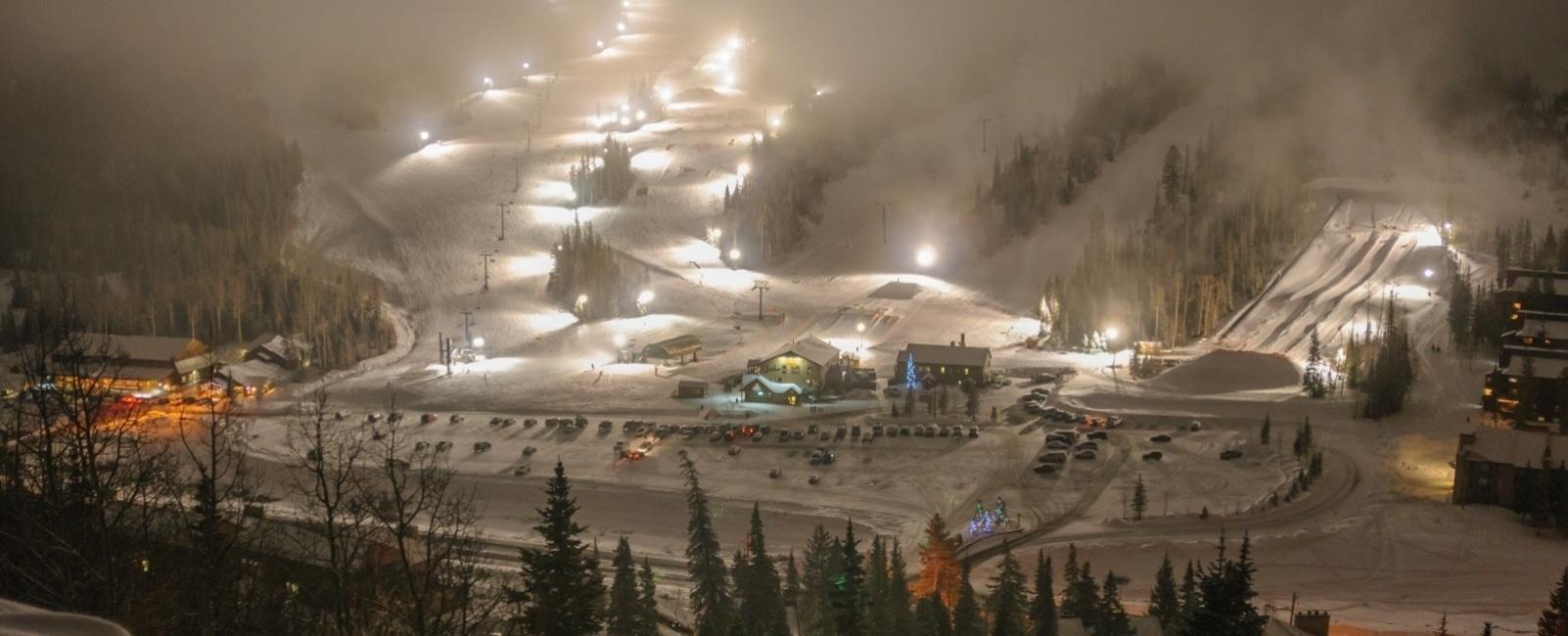 Night Skiing in Utah