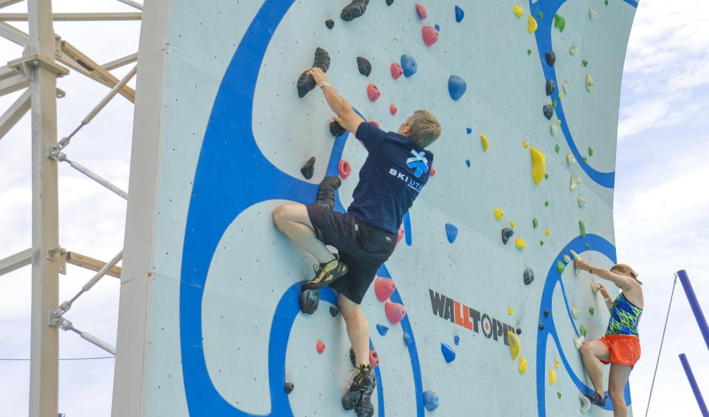 Steve Seliger representing Ski Utah on the wall