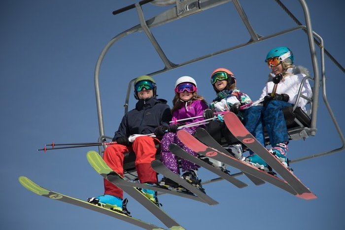 Family on Deer Valley Liftjpg