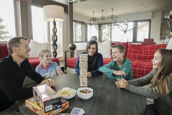 Family Enjoying Stein Eriksen Resdidences