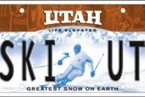 SkiUtah License Plate thumbnail