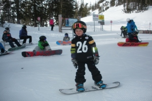 """It just takes practice."" Advice from a 7 year old snowboarder! thumbnail"