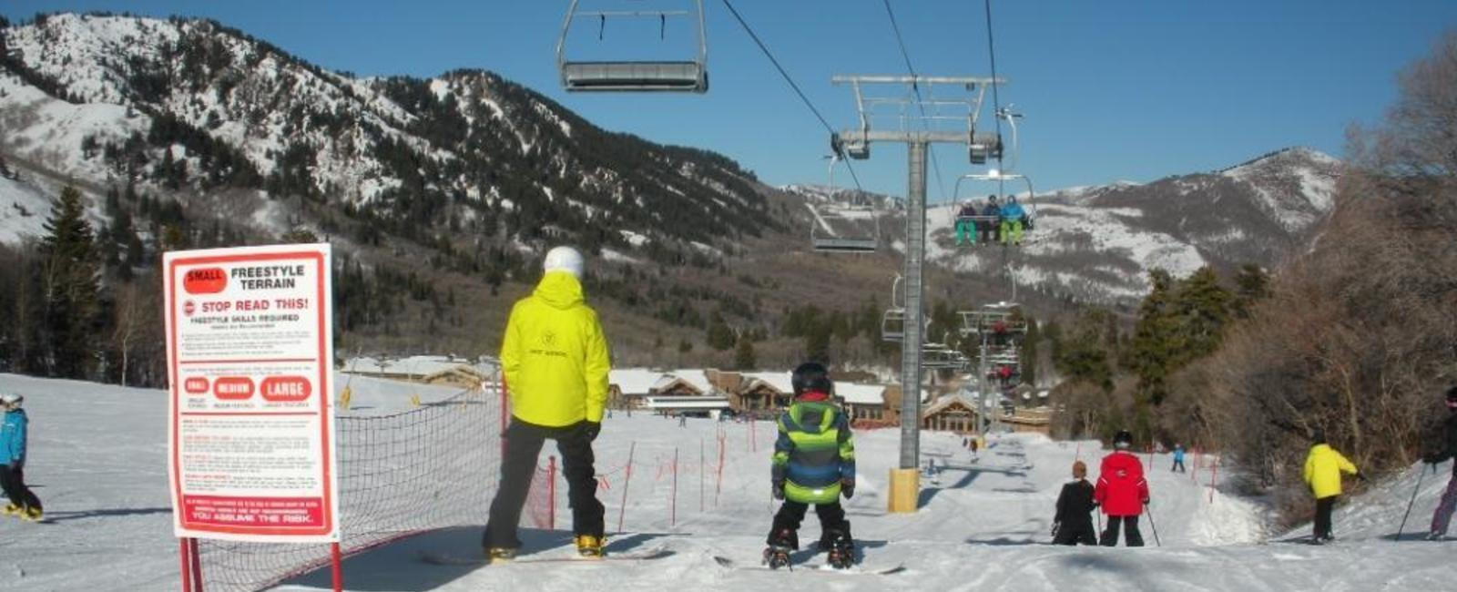 Learning to Snowboard—Snowbasin's Riglet Park