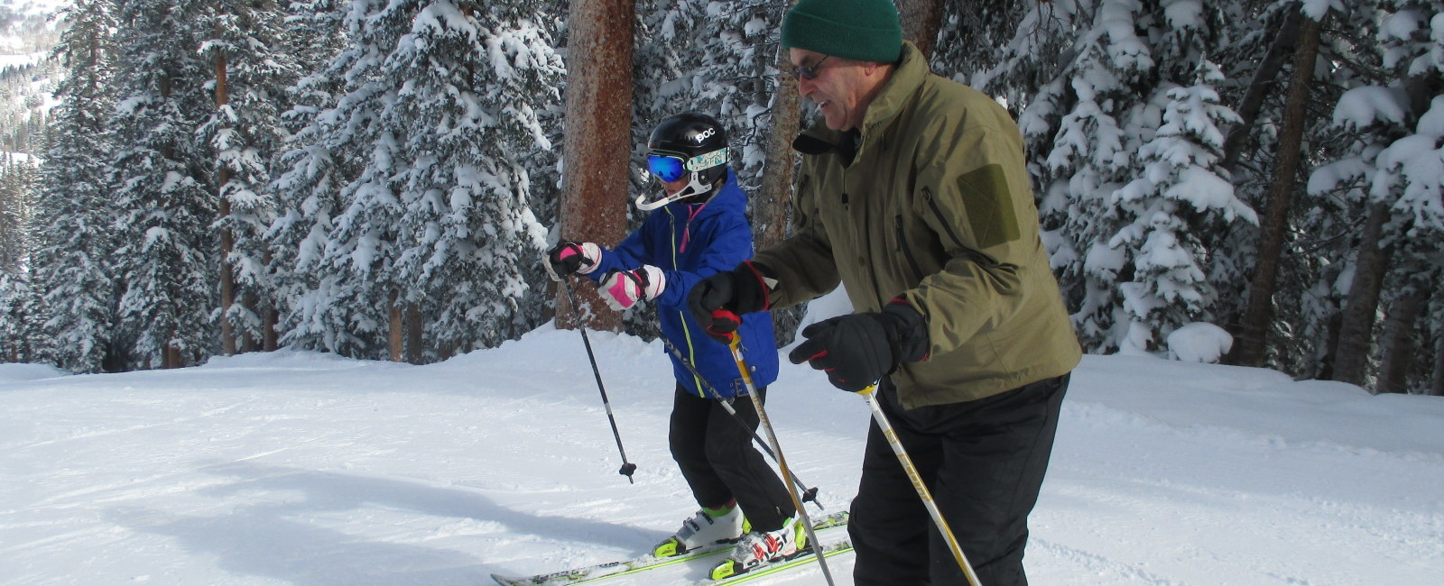 Ski tips for Grandpa-kids do the teaching!