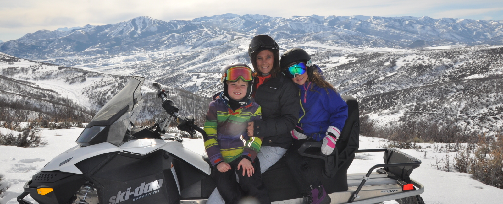 Snowmobiling with the Kids Outside of Deer Valley