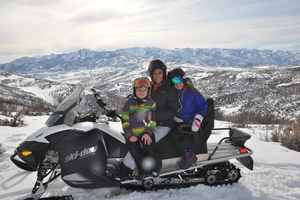 Snowmobiling with the Kids Outside of Deer Valley thumbnail