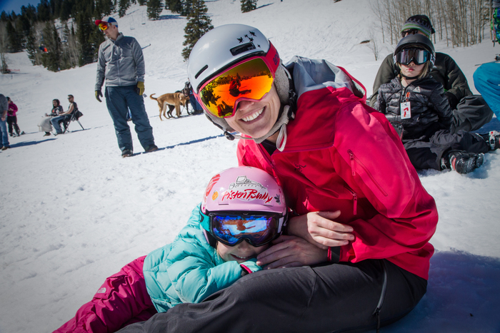 Mom and daughter at Beaver Mountain