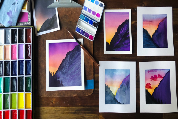 Watercolor 101: How to Paint a Simple Mountain Scene