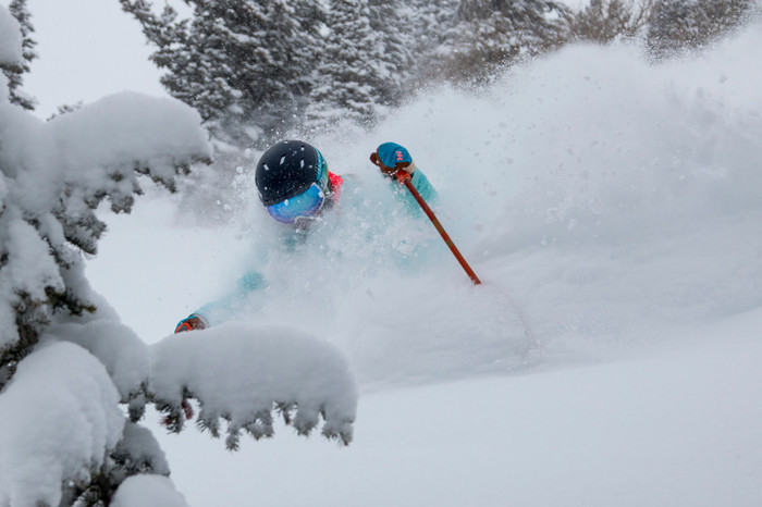 Skiing Powder At Deer Valley