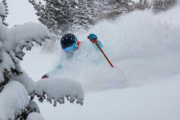 Skiing Powder At Deer Valley