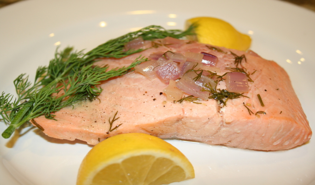 Try the easy recipe for salmon poached in Wasatch ale.