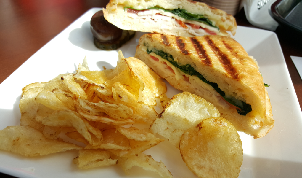 Fresh grilled paninis are always on the menu.