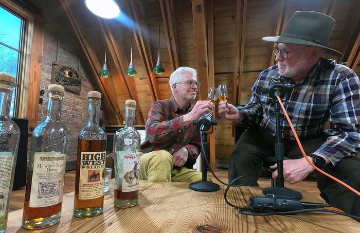 David Perkins  Tom Kelly tasting Highwest whiskey