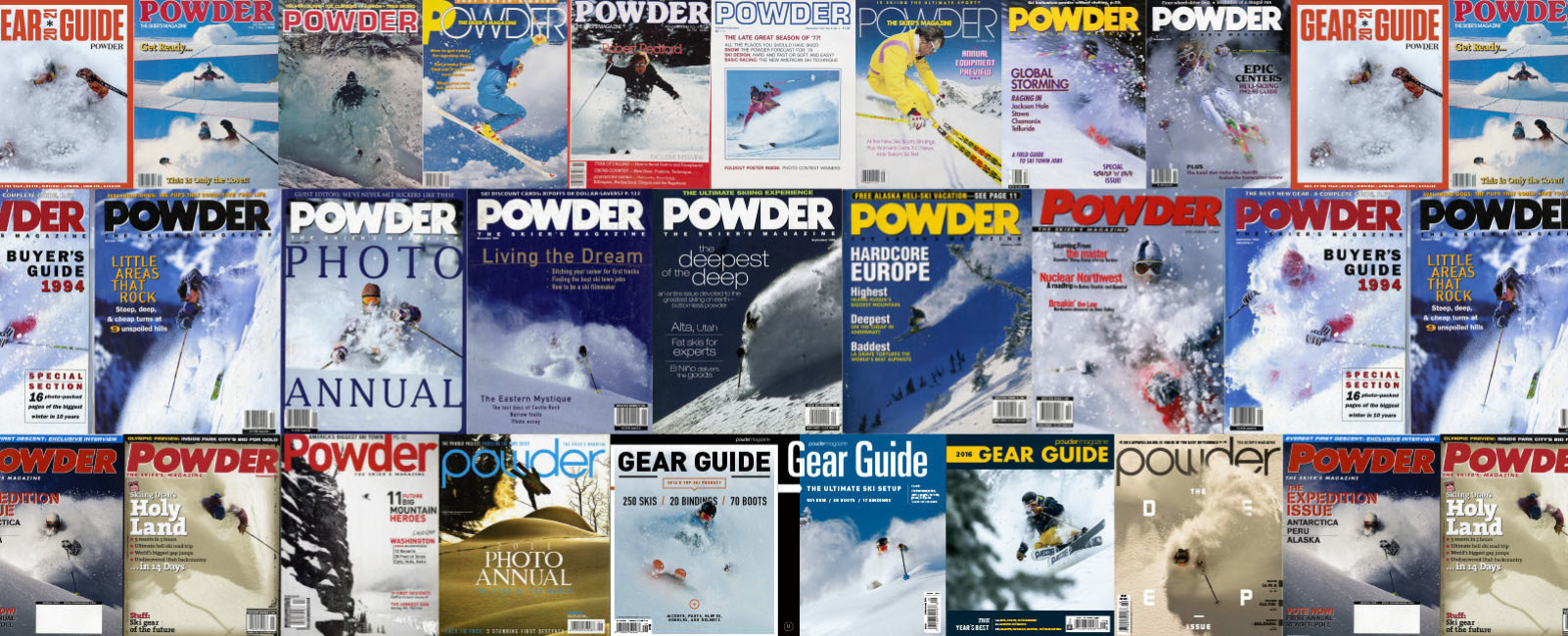 In Fond Remembrance of Powder, the Skier's Magazine