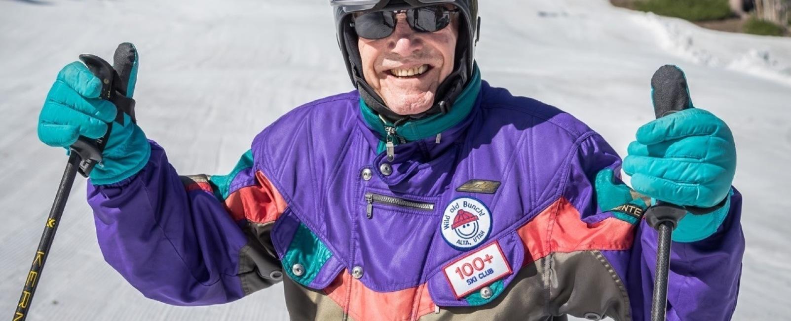 100th Birthday On Skis