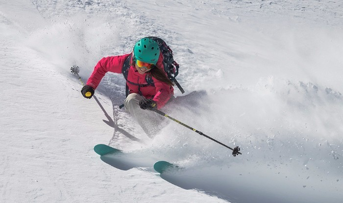 Girl Skiing with a Smile