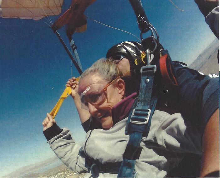 Barbara Stewart Anderson Sky Diving