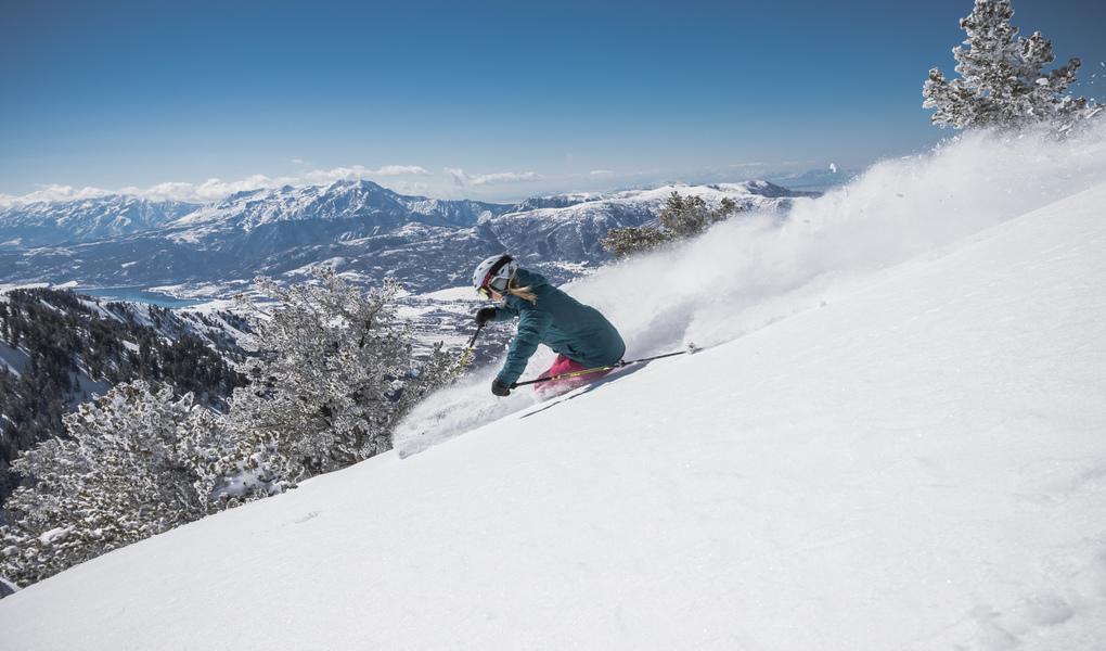 Skiing Powder at Powder Mountain