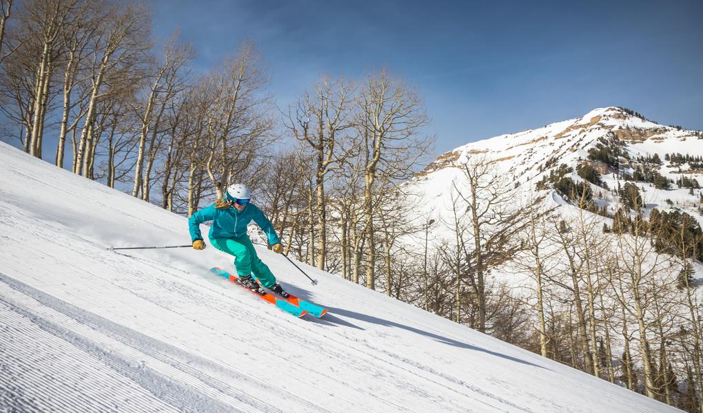 Groomer Skiing at Sundance