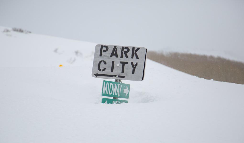 Buried Street Sign