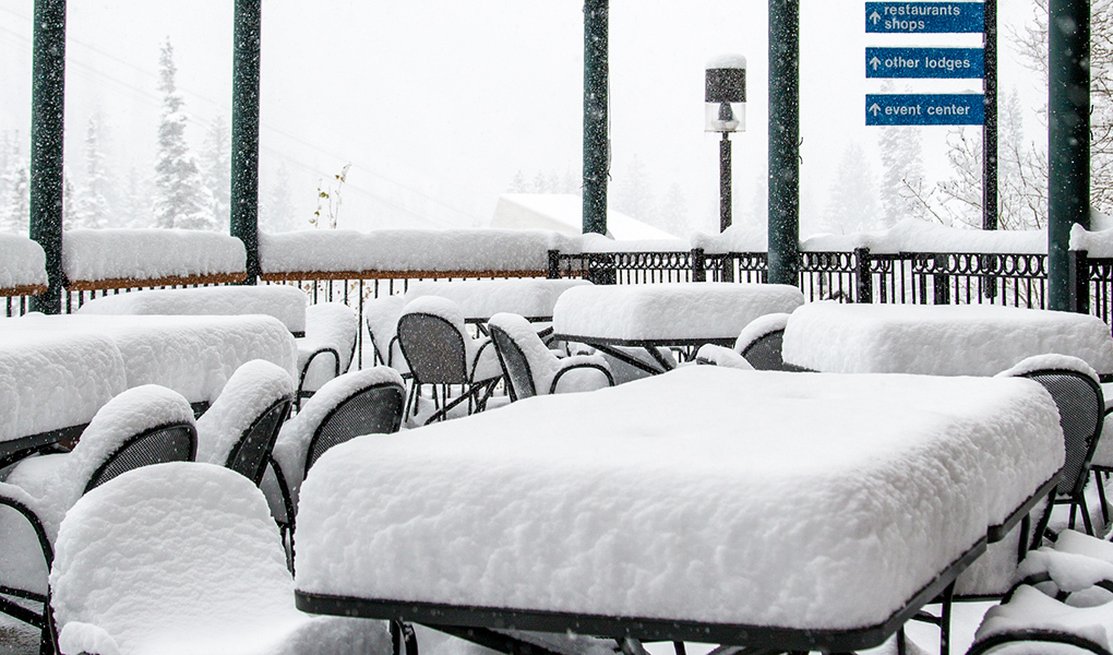 Snow's piling up at Snowbird