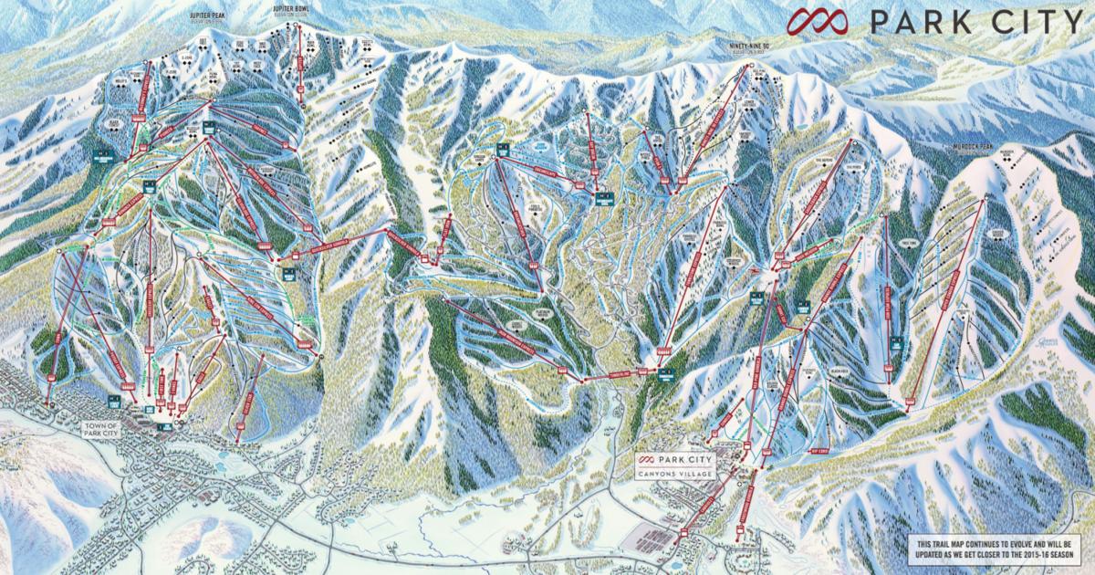 Park City Unveils New Brand Ski Utah - Map of us ski resorts