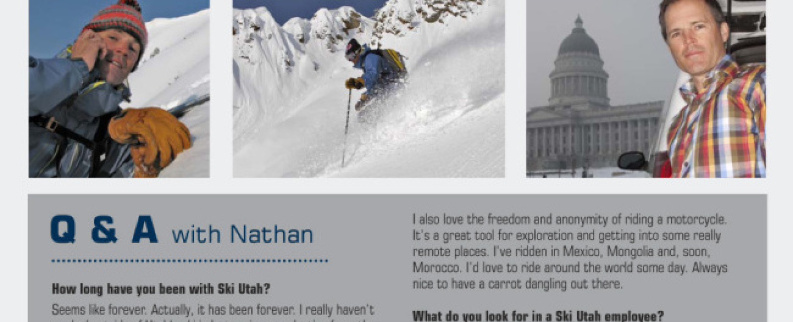 Ski Utah Staff Profiles - Nathan Rafferty - President | CEO