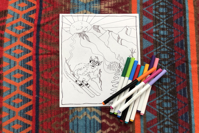Skiing Coloring Pages thumbnail