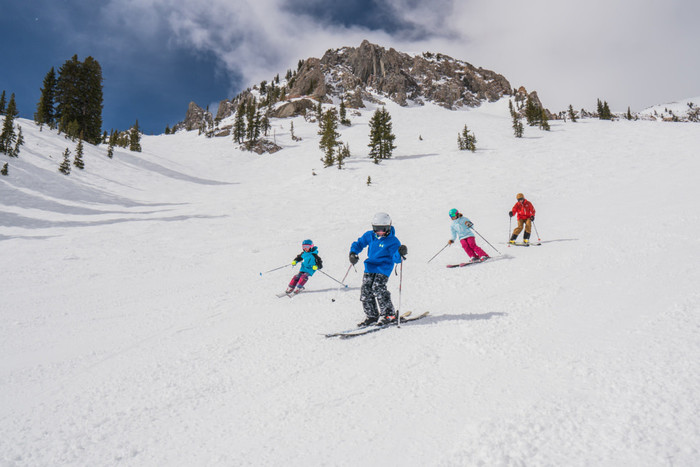 Skiing Snowbird Resort