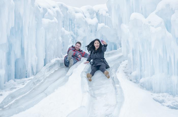 Ice Castles Ice Slide