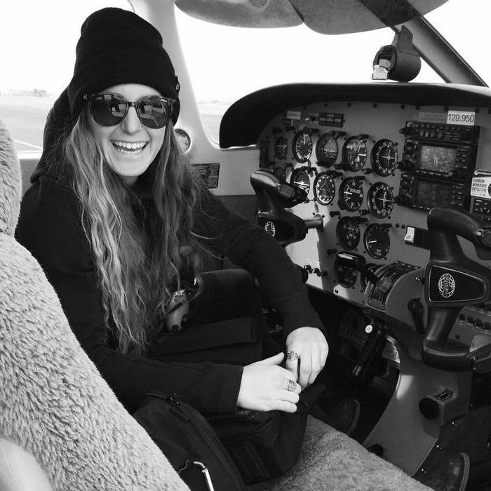 Hailey in airplane