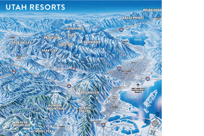 Jim Niehues Utah Resort Map