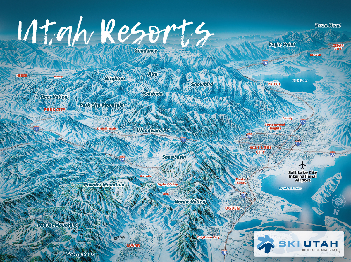 Utah Ski Resorts Map Area Info Ski Utah