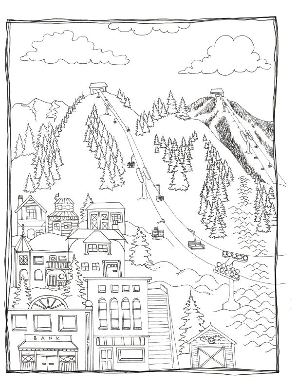 Summer Tree Colouring Page | 792x612