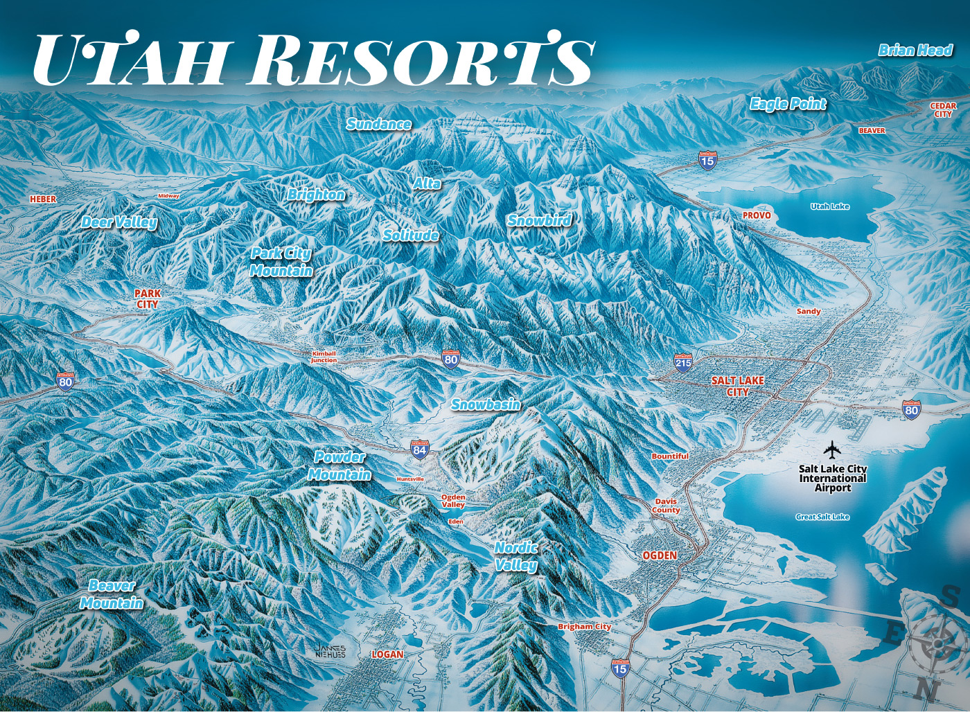 Ski Utah Map Utah Ski Areas 101   Utah Ski Resort Info   Ski Utah