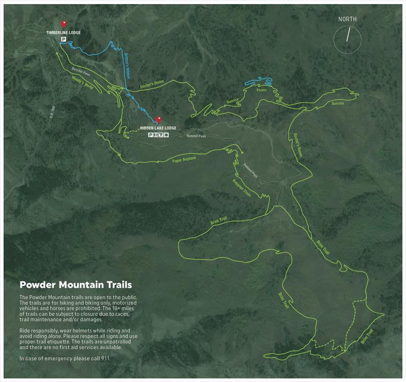 Powder Mountain Trail Network