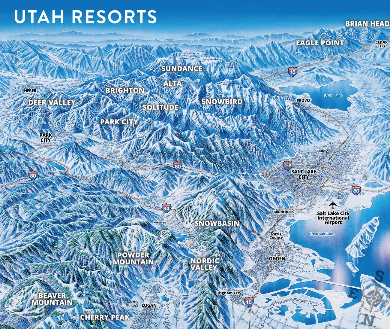 Internationale Besucher Deutsch Ski Utah