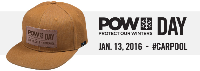 Top Five Fridays January 1, 2016: Ski Utah and Protect Our Winters Present POW Day