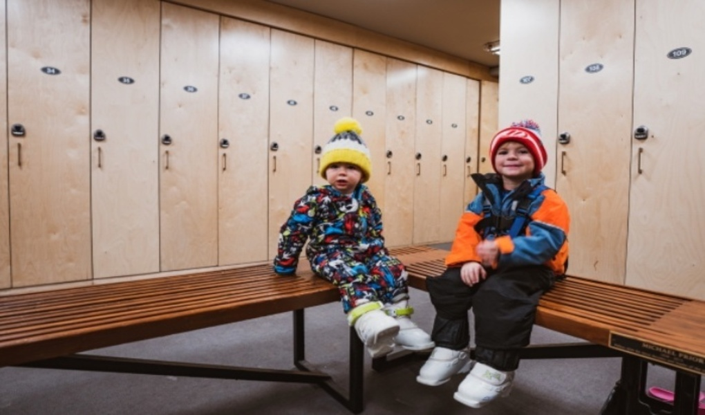 Kids In Locker Room
