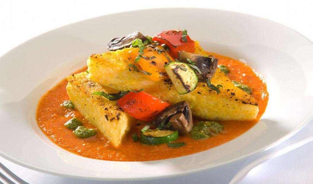 Dinner entree - Polenta, vegetarian option