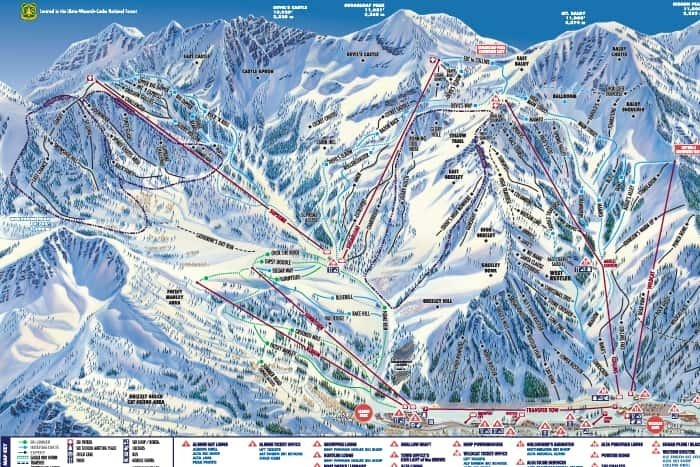 Alta Ski Area Trail Map