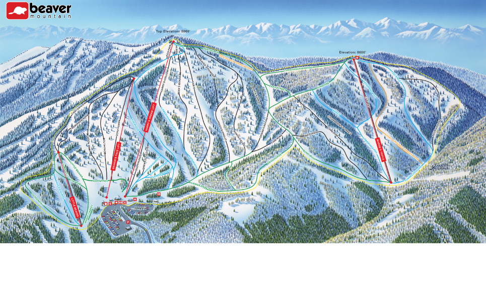 Solitude Utah Map.Trail Maps For Each Of Utah S 14 Ski Resort Ski Utah