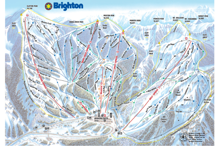 Brighton Ski Resort   Map, Weather & Information   Ski Utah